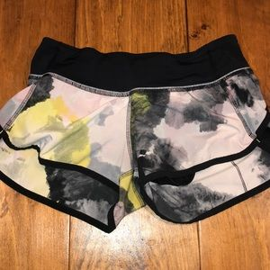 Lululemon multicolor running shorts